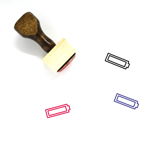 Battery Wooden Rubber Stamp No. 464