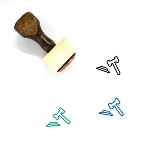 Legal Wooden Rubber Stamp No. 34