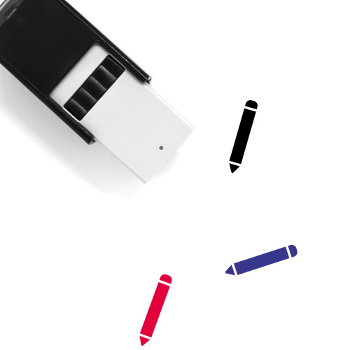 Colored Pencil Self-Inking Rubber Stamp No. 8