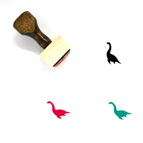 Loch Ness Monster Wooden Rubber Stamp No. 16