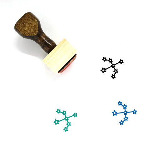Constellation Wooden Rubber Stamp No. 36