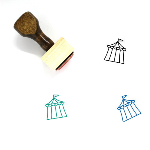 Tent Wooden Rubber Stamp No. 86