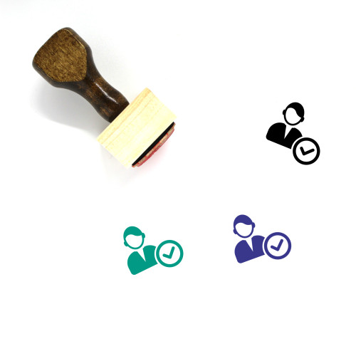 Male User Wooden Rubber Stamp No. 42