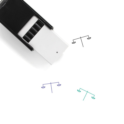 Scale Self-Inking Rubber Stamp No. 289