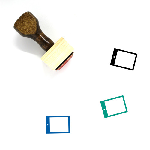 Tablet Wooden Rubber Stamp No. 151