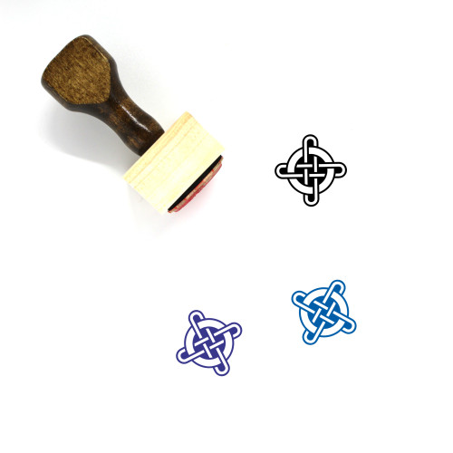 Cross Wooden Rubber Stamp No. 268