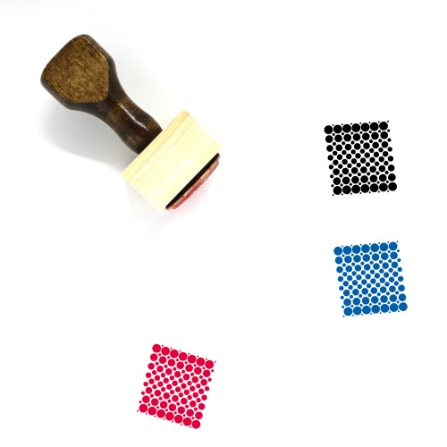 Dots Wooden Rubber Stamp No. 35
