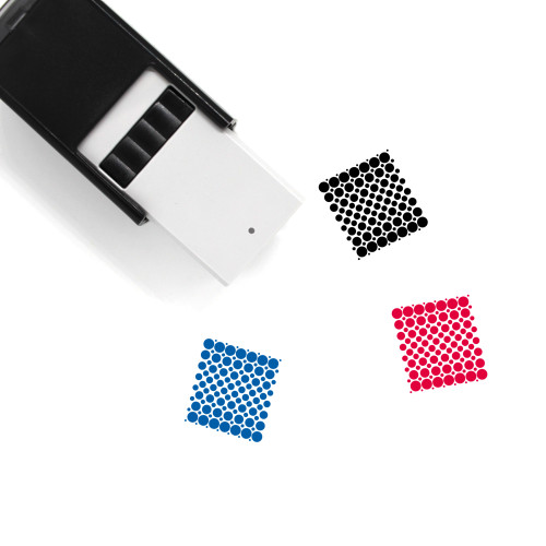 Dots Self-Inking Rubber Stamp No. 35