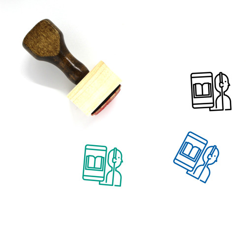 Audio Book Wooden Rubber Stamp No. 36