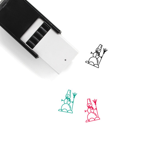 Snowman Self-Inking Rubber Stamp No. 99