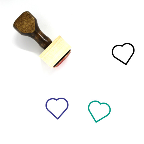 Heart Wooden Rubber Stamp No. 1498