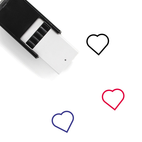 Heart Self-Inking Rubber Stamp No. 1498
