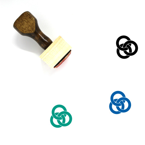 Linking Rings Wooden Rubber Stamp No. 2