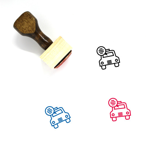 Car Wooden Rubber Stamp No. 438