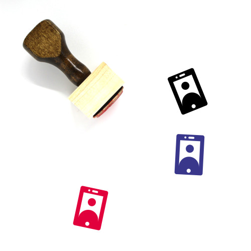 Video Call Wooden Rubber Stamp No. 41