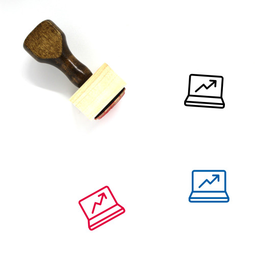 Laptop Increase Wooden Rubber Stamp No. 3