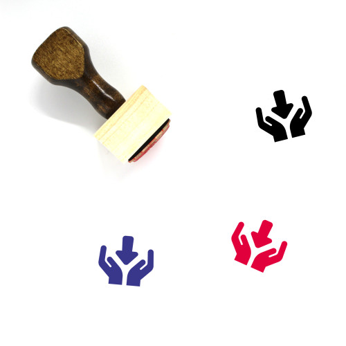 Receive Wooden Rubber Stamp No. 36