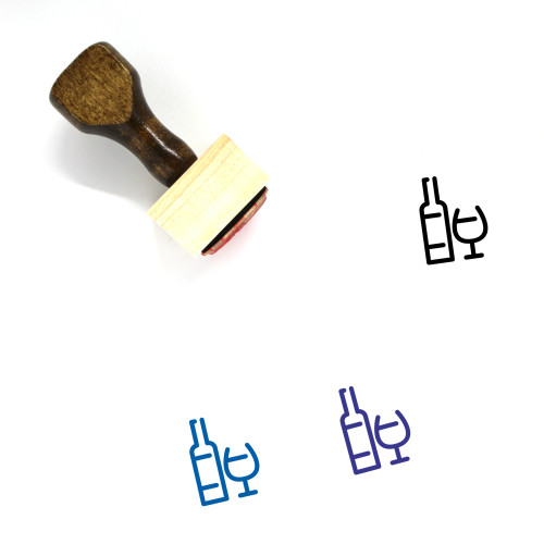 Alcohol Wooden Rubber Stamp No. 49