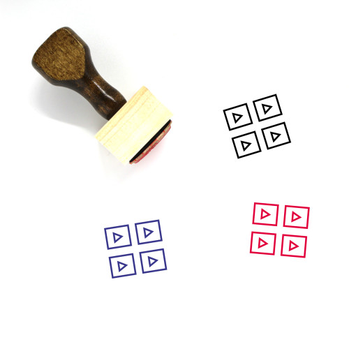 Wireframe Wooden Rubber Stamp No. 89