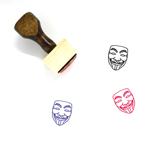 Guy Fawkes Wooden Rubber Stamp No. 11