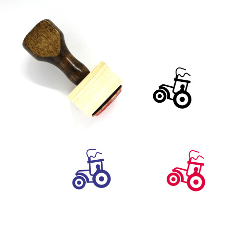 Tractor Wooden Rubber Stamp No. 94