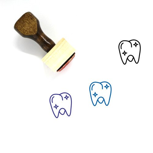 Healthy Molar Wooden Rubber Stamp No. 1