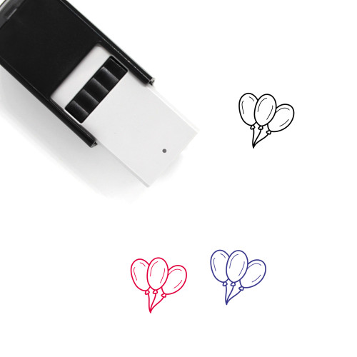 Balloons Self-Inking Rubber Stamp No. 81