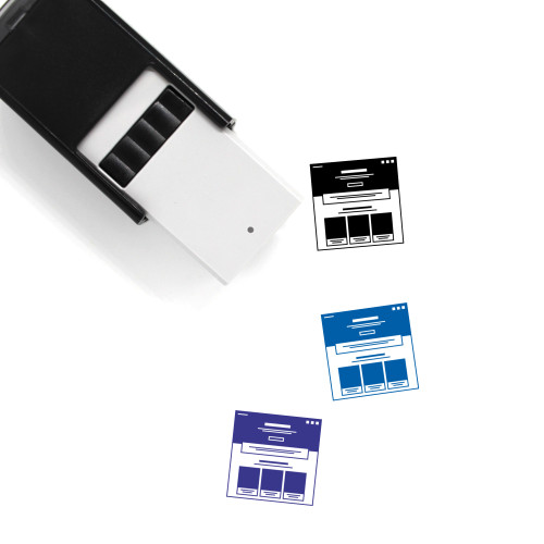 Website Self-Inking Rubber Stamp No. 87