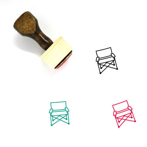 Camp Chair Wooden Rubber Stamp No. 2