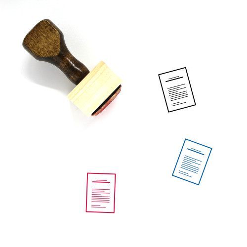 Letter Wooden Rubber Stamp No. 119