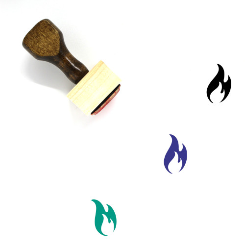 Fire Wooden Rubber Stamp No. 153