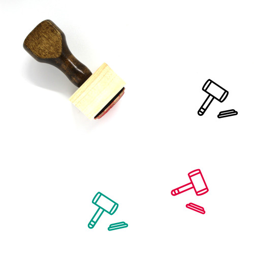 Law Wooden Rubber Stamp No. 293