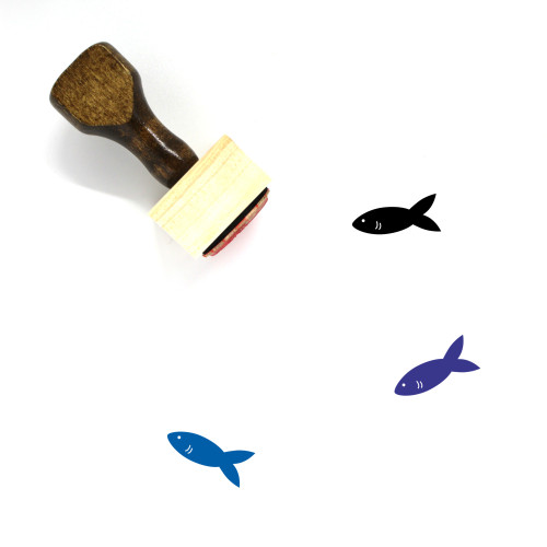Fish Wooden Rubber Stamp No. 297