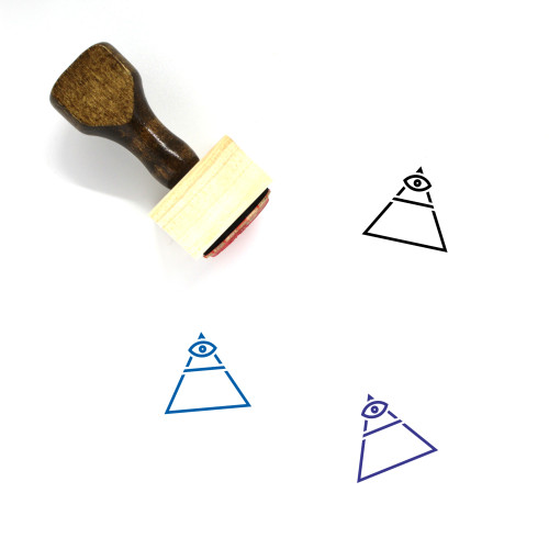 Eye Of Providence Wooden Rubber Stamp No. 27