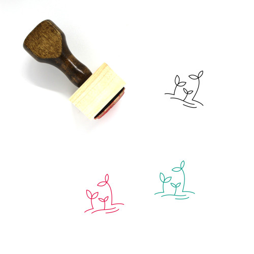 Sprout Wooden Rubber Stamp No. 14