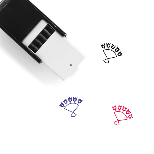 Bouquet Of Flowers Self-Inking Rubber Stamp No. 4