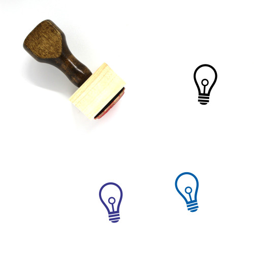 Light Bulb Wooden Rubber Stamp No. 366