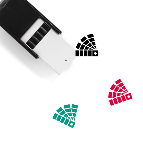 Color Fan Self-Inking Rubber Stamp No. 8