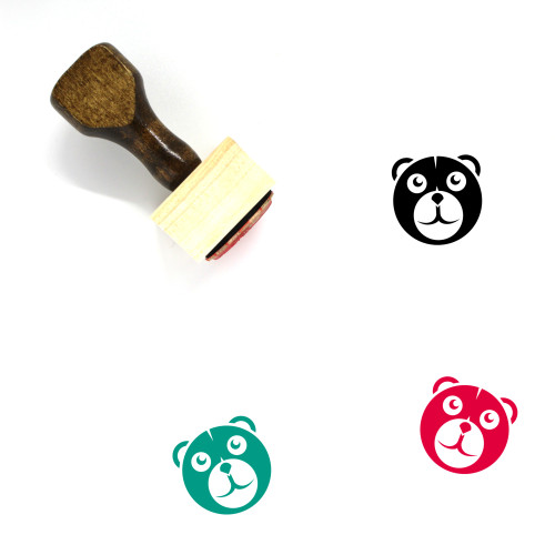 Bear Wooden Rubber Stamp No. 152