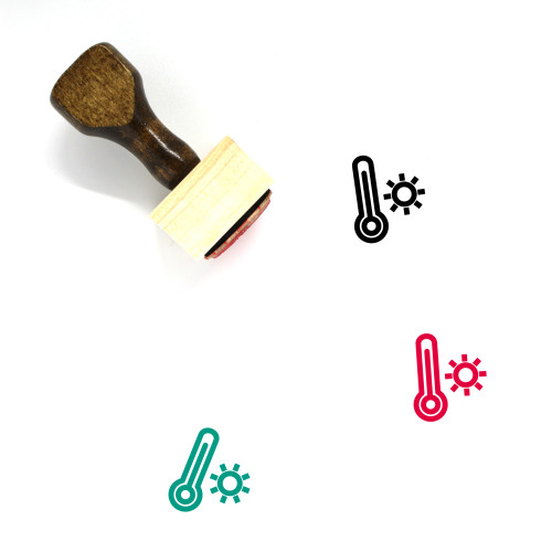 Temperature Wooden Rubber Stamp No. 51