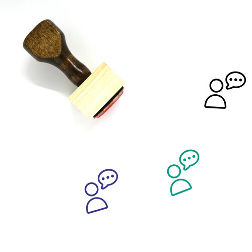 Customer Service Wooden Rubber Stamp No. 80