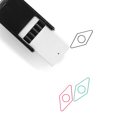Compass Needle Self-Inking Rubber Stamp No. 19