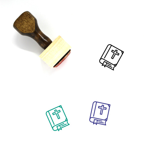Bible Wooden Rubber Stamp No. 87