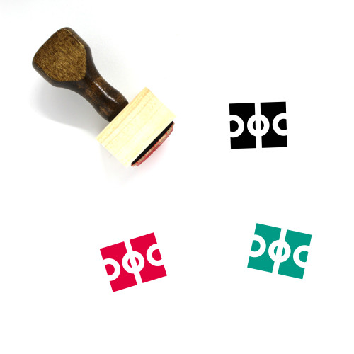 Sports Wooden Rubber Stamp No. 161