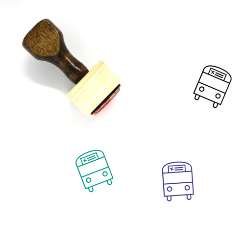 Airport Shuttle Wooden Rubber Stamp No. 6