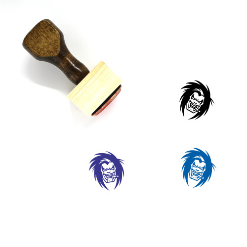 Lobo Wooden Rubber Stamp No. 3