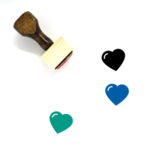 Heart Wooden Rubber Stamp No. 1499