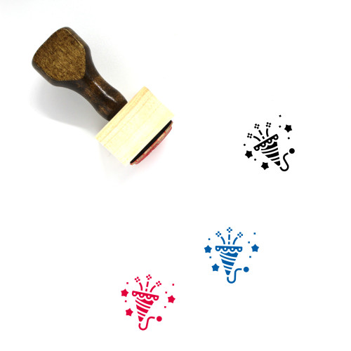 Celebrate Wooden Rubber Stamp No. 47