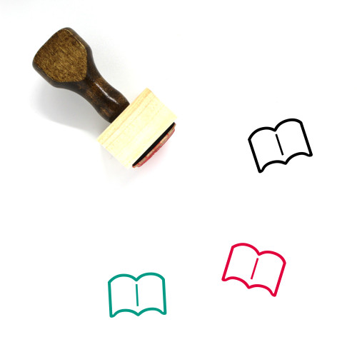 Book Wooden Rubber Stamp No. 718