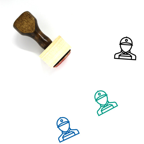 Courier Wooden Rubber Stamp No. 62